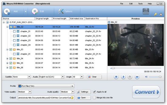 import video files to Video4Web Player