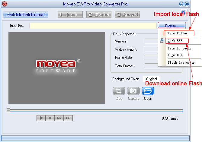Flash to Xperia ZL: Import Flash movie